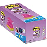 "Post-it 76 x 76 mm ""Value Pack"" Super Sticky Z-Notes - Assorted Colours (Pack of 16)"