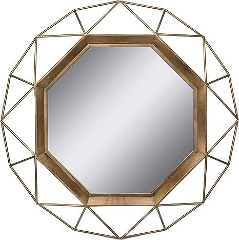 Amazon Com Stonebriar Sb 6137a Gold Geometric Wall Mirror 30 X 30 Home Kitchen