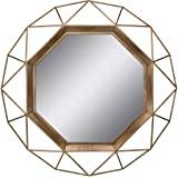 Stonebriar SB-6137A Gold Geometric Wall Mirror, 30 x 30