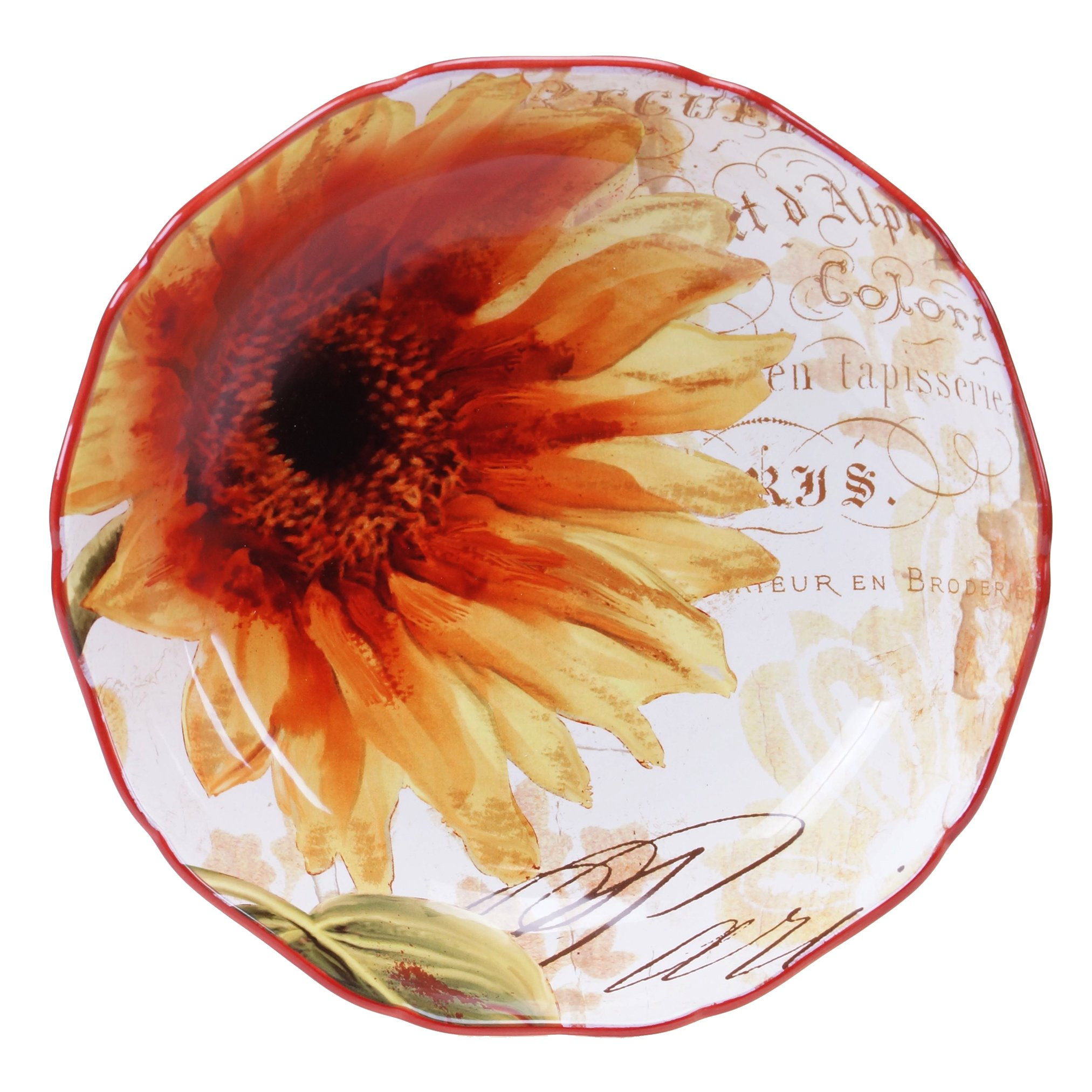 Certified International Paris Sunflower Serving/Pasta Bowl, 13 x 3'', Multicolor