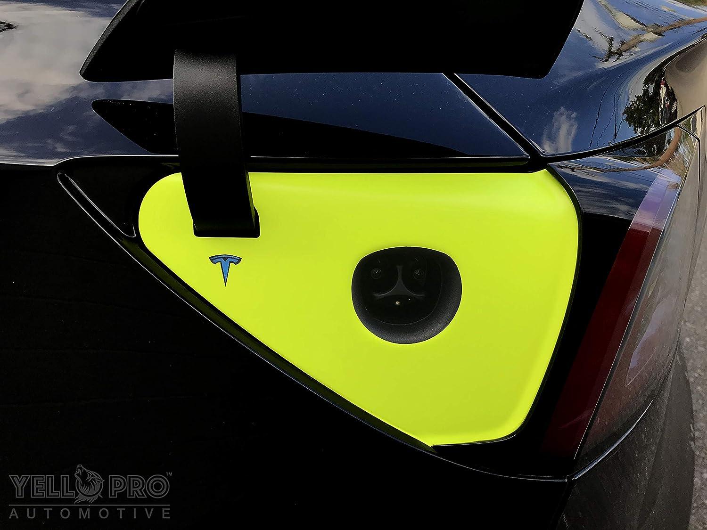 YelloPro Auto Tesla Model 3 Charging Dock Wrap 3M Decal Protection KIT Carbon Fiber Black