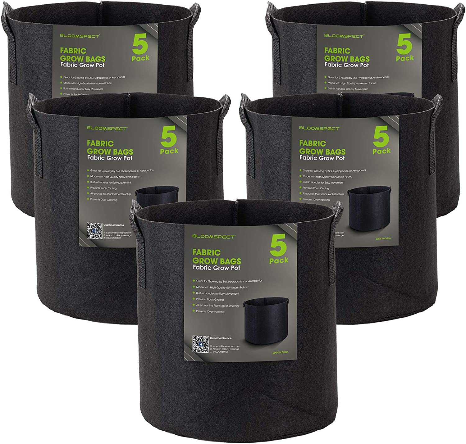 Easy to Move Decorlife 12 Pack 3 Gallon Grow Bags Non-Woven Aeration Plant Fabric Pots with Sturdy Handles /& 12 Labels