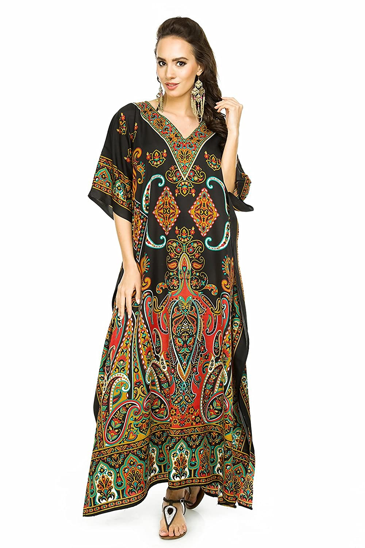 New Ladies Oversized Maxi Kimono Kaftan Tunic Kaftan Dress Free Size ESD