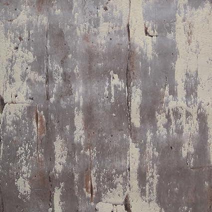 3D Concrete Wallpaper For Living Room Background Bedroom Textured Rustic Gray Cement Look