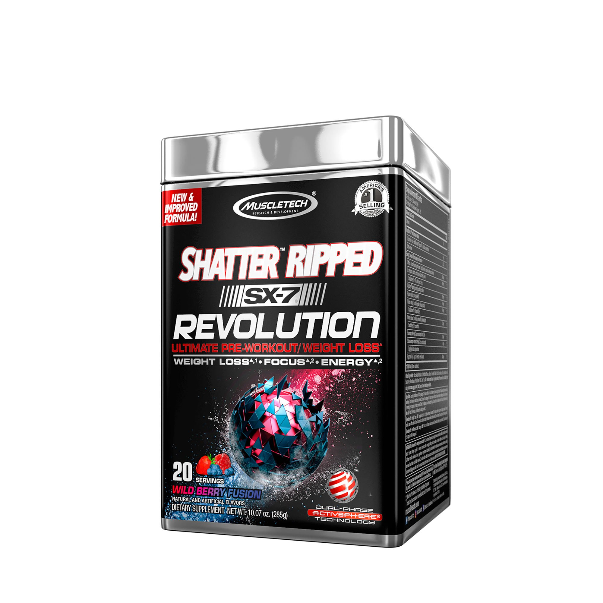 MuscleTech Shatter Ripped SX-7 Revolution - Wild Berry Fusion by MuscleTech (Image #1)