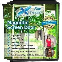 Flux Phenom Reinforced Magnetic Screen Door, Fits Doors Up To 38 X 82 Inch