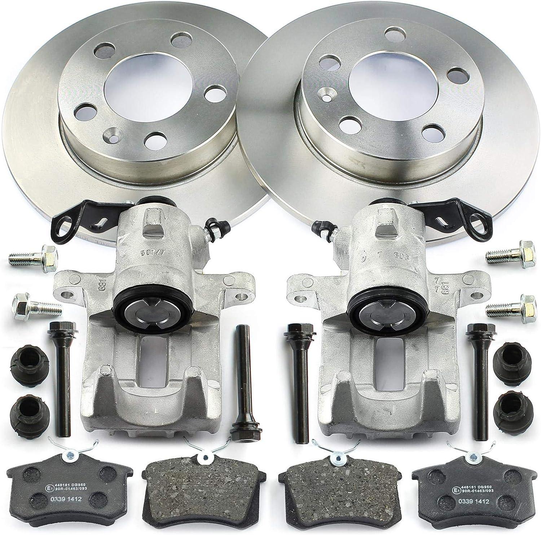 Bremsen 2x Bremssattel Bremsscheiben Bremsbeläge Hinten Nb Parts Germany 10043389 Auto