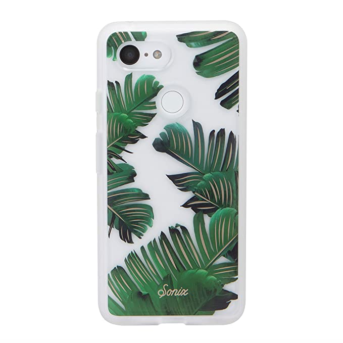 detailed look c04a0 d8b47 Sonix Bahama (Palm Leaf) Cell Phone Case [Military Drop Test Certified]  Protective Clear Series for Google Pixel 3