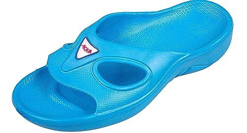 Aqua-Speed Mujer Zapatillas de Baño mit Anti-Giro Suela Corsica (Azul Claro