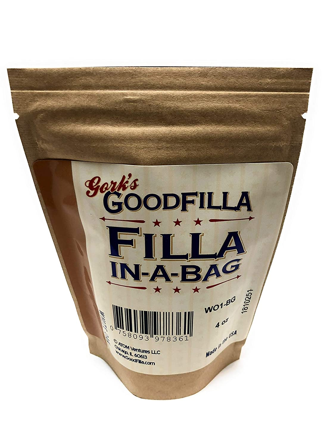 Wood Filler & Putty Powder - Innovative Powder Formula - Filla-In-A-Bag -  White Oak - 4 oz By Goodfilla | Repairs, Finishes & Patches | Paintable,