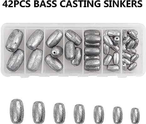 Shaddock Fishing - 54 piezas, pesos surtidos de pesca con anillo ...