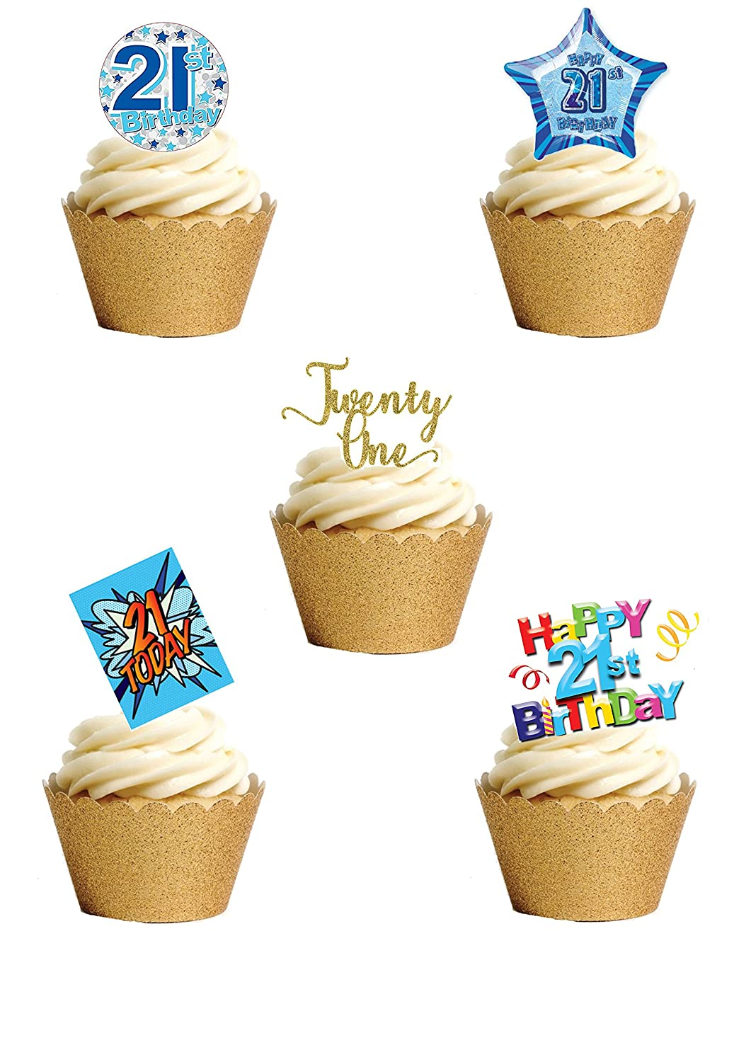 Remarkable 17 Stand Up Twenty One 21St Birthday Boy Man Themed Edible Wafer Personalised Birthday Cards Petedlily Jamesorg
