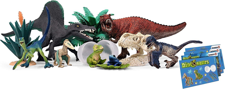 SCHLEICH 97982 Dinosaurs 2019 Adventskalender, Mehrfarbig