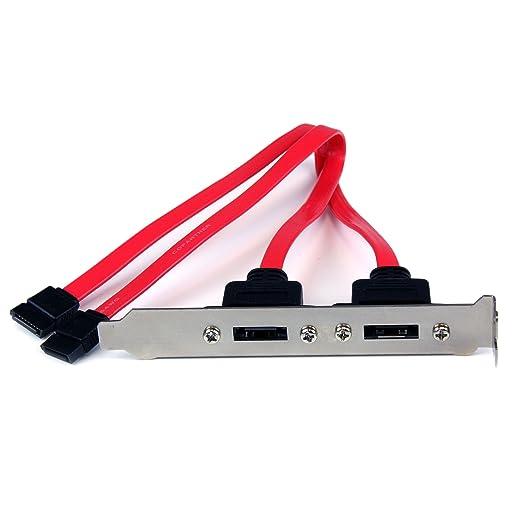 5 opinioni per Startech.Com Supporto Slot Piastra SATA con 2 Porte eSATA, Nero/Antracite