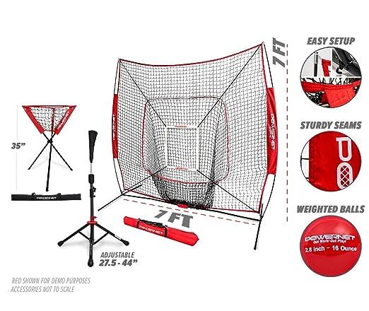 PowerNet DLX Combo 6 Piece Set for Baseball Softball | 7x7