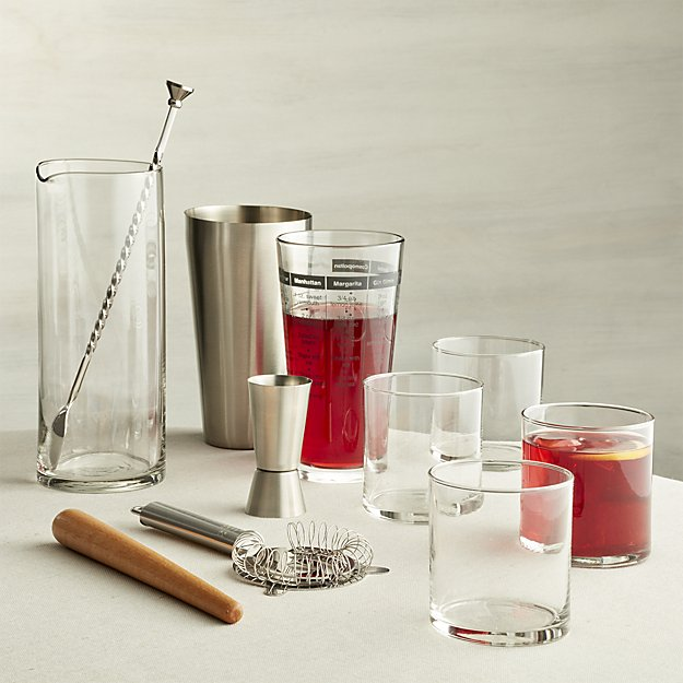 11-Piece Boxed Bar Set | Crate and Barrel