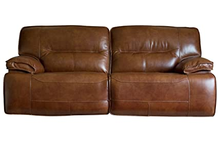 Amazon.com: Drake Leather Power Reclining Sofa: Kitchen & Dining