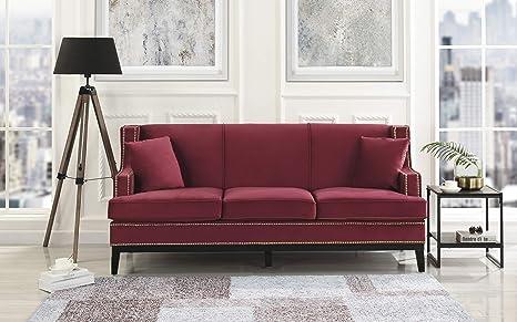 Amazon.com: Divano Roma Muebles Moderno Sofá de Terciopelo ...