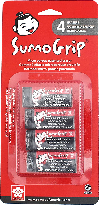 1 Piece Sakura Sumo Grip Premium Retractable Eraser 50254