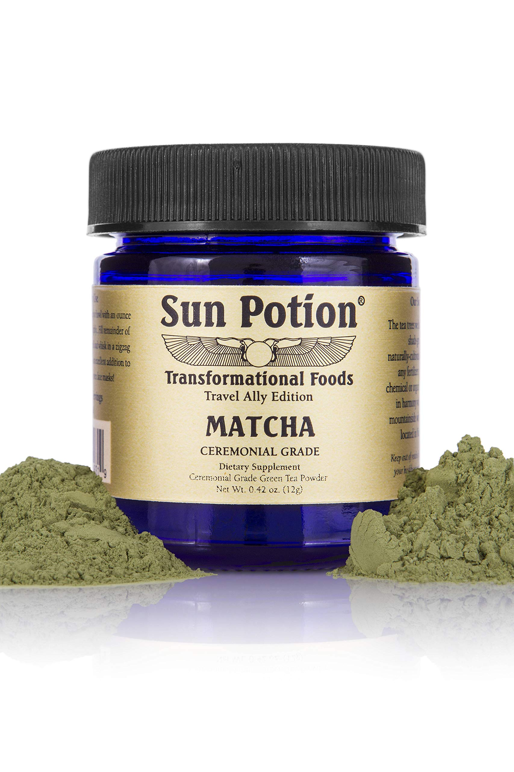 White Dragon Matcha Green Tea Powder by Sun Potion - Boutique Style Organic Ceremonial Grade - Finest Exclusive and Highest Quality - Japanese Superfood - Antioxidant Energy Fat Burner - 12g