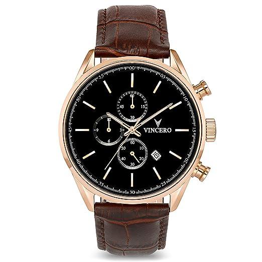 Reloj de Pulsera Chrono S de Lujo para Caballeros Vincero – Reloj Oro Rosa con Correa