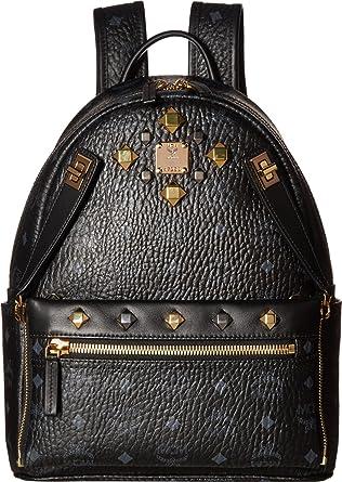 f75a0da1df30 MCM Unisex Dual Stark Small Backpack Black Backpack