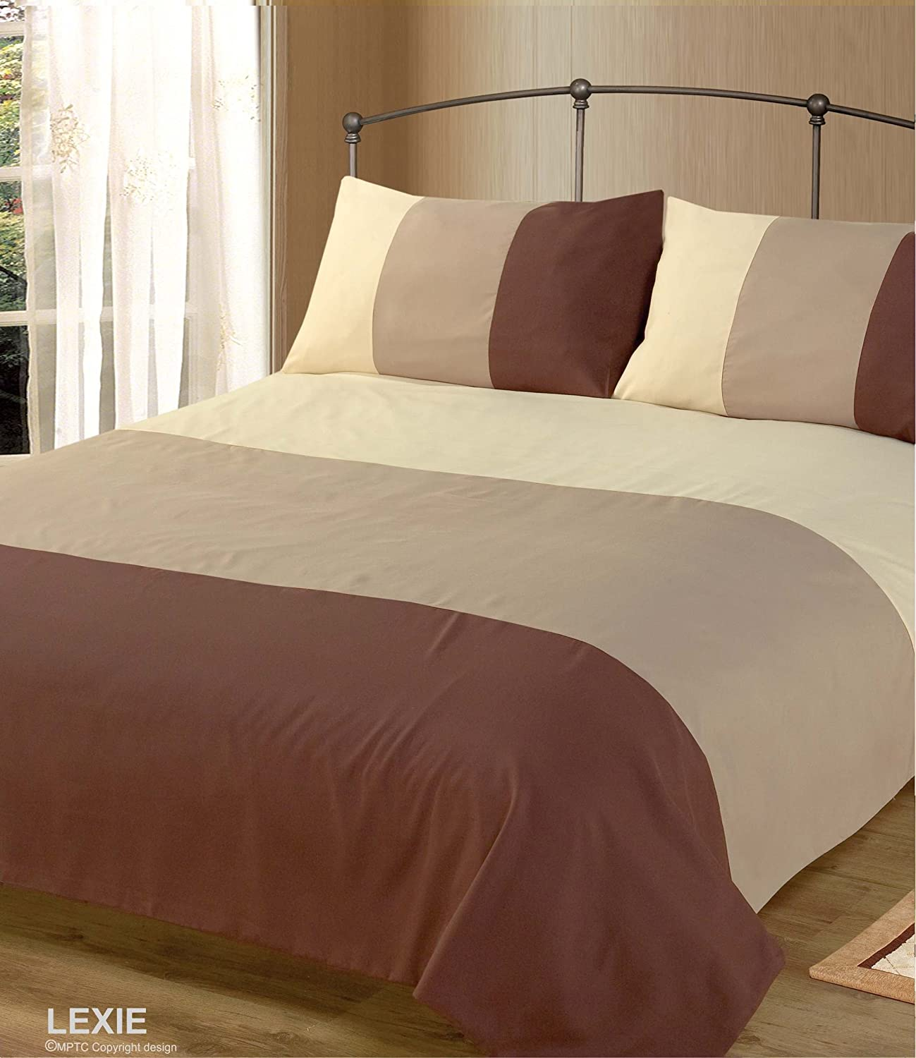 closeup collection hotel duvet set brown cover
