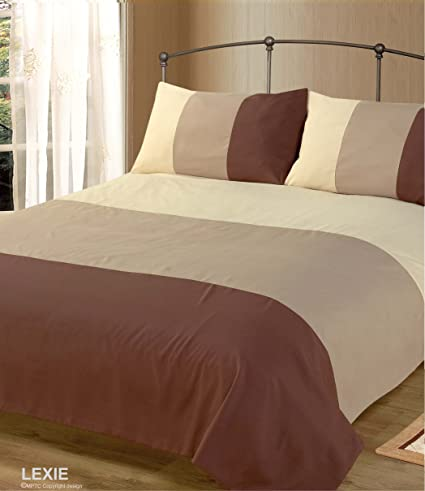 Intimates Double Bed Duvet Quilt Cover Bedding Set Lexie Chocolate