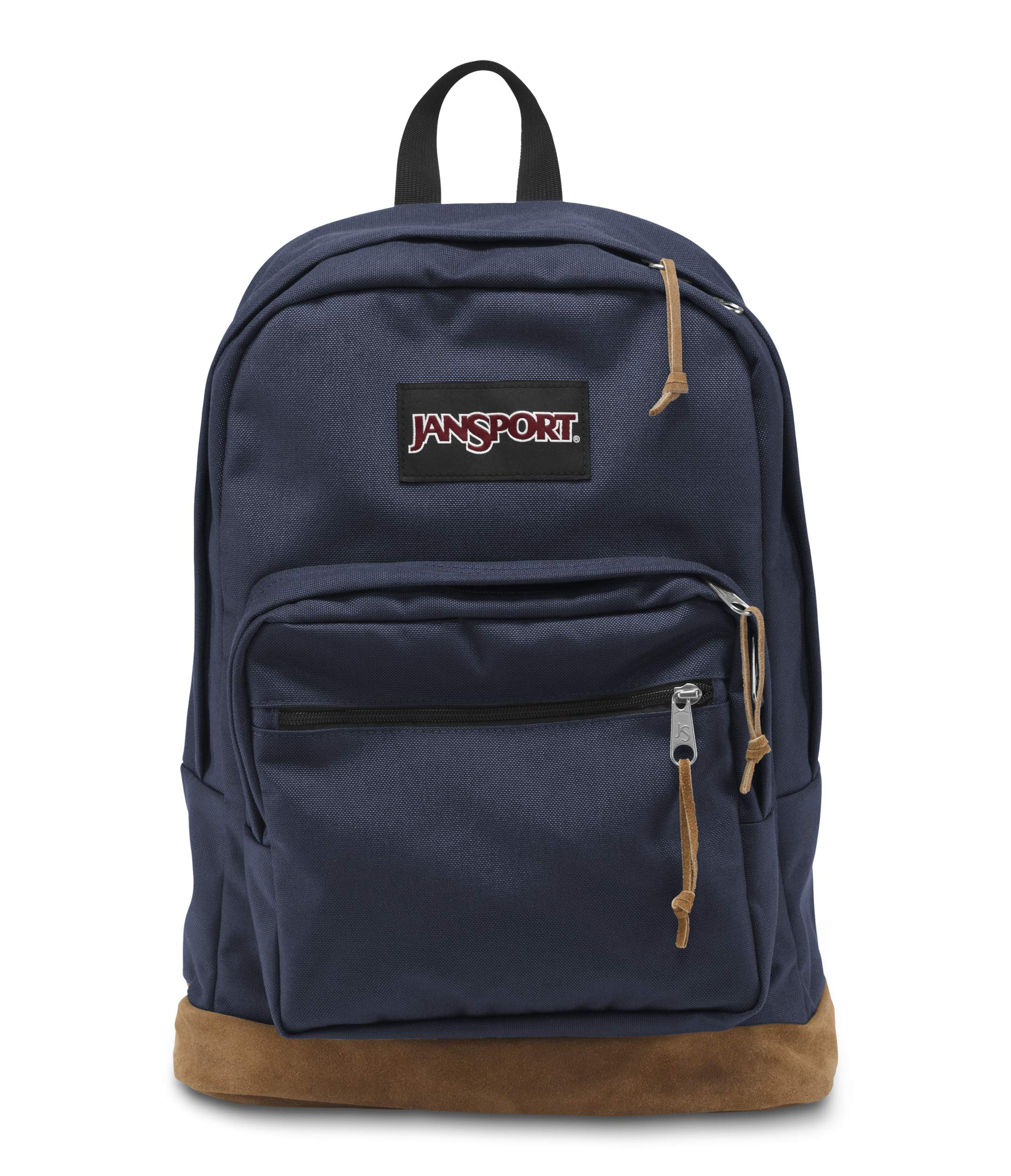 Right Pack Backpack - School, Travel, Work, or Laptop Bookbag with Leather Bottom (Navy)