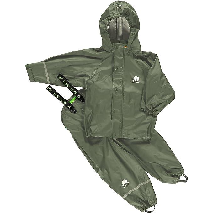 8b3716c30f7fb9 Amazon.com  Kids 2 Pcs Rain Set - Jacket   Pants or Dungarees - 20 Colors  (2-9 Years)  Sports   Outdoors