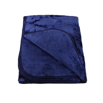 Amago Gozze Cuddly Blanket Cashmere Feel Polyester Navy 130 X
