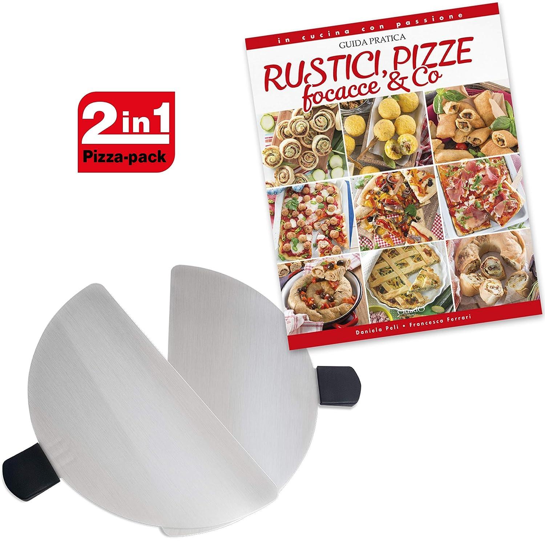 Palette in Acciao Inox per Forni Pizza Spice Ricettario Rustici Pizze e Focacce Optima- Ariete Melchioni Spice Set Spice G3Ferrari