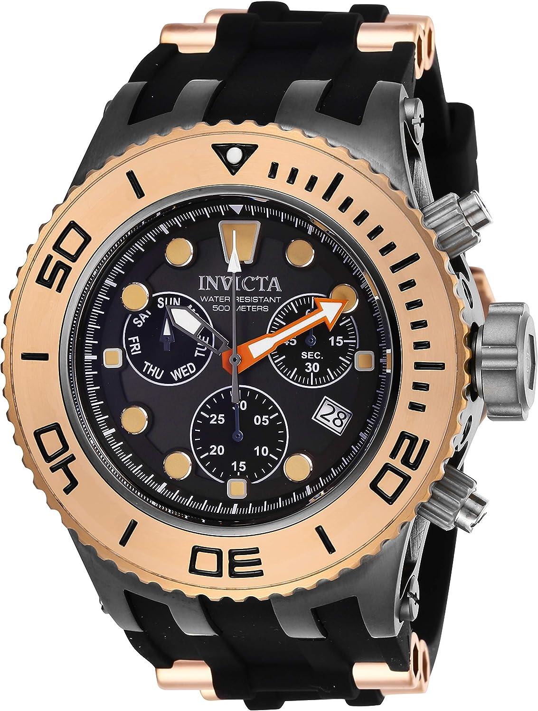 Invicta Men s Subaqua Stainless Steel Quartz Watch with Silicone Strap, Black, 31 Model 27659