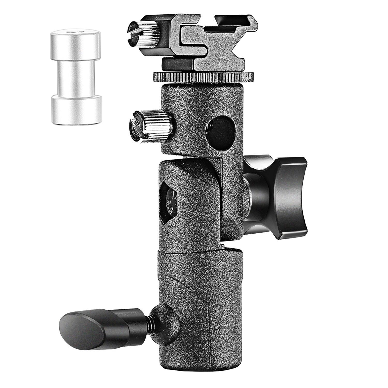 Neewer Universal E-Type Camera Flash Speedlite Mount Light Stand Bracket Umbrella Shoe Holder Compatible with Canon Nikon Pentax Olympus and other Flashes with Standard Shoe Mount by Neewer
