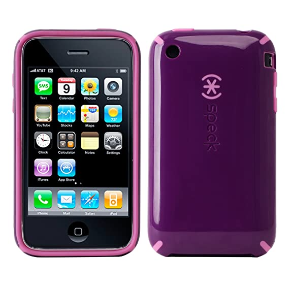 best service 21486 1f8c8 AT&T Speck CandyShell for Apple iPhone 3G & 3GS - Purple/Pink