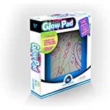 Mindscope Light Up LED GLOW PAD BLUE Animator with Glow Markers