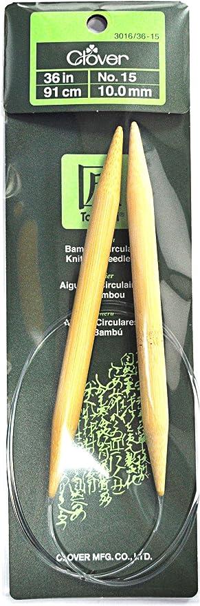 Clover Needlecraft Takumi Bamboo Circular Knitting Needles 36 inch Size 1//2.25mm Bundle with 1 Artsiga Crafts Stitch Holder 3016//36 01