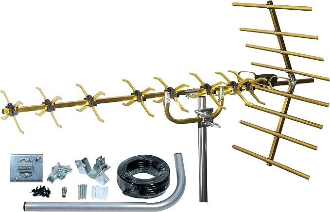 SLx 27884GKIT4 - Juego de antena dorada y accesorios de conexión para televisión digital (4G, 48 elementos) (importado): Amazon.es: Electrónica