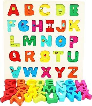 Puzzle Alfabeto Incastro in Legno per Bimbi