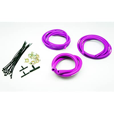 Autobahn88 Silicone Vacuum Hose Dress Up DIY Kit, Universal Fit All Nissan,Subaru,MMC, Toyota,Honda,Mazda, Mustang,Chevrolet,Ford, Suzuki,Citroen,Audi,BMW, Benz,Mini,Volkswagen,Fiat, etc (Purple): Automotive