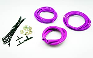 Autobahn88 Engine Room Silicone Vacuum Hose Dress Up DIY Kit, Fit All Models of Chevrolet (Purple)
