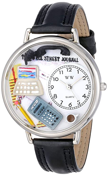Whimsical Watches Unisex U0610005 Accountant Black Padded Leather Watch