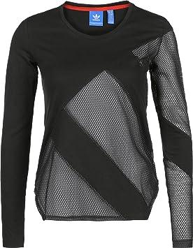 Adidas LS Camiseta de Manga Larga, Mujer: Amazon.es: Deportes y aire libre
