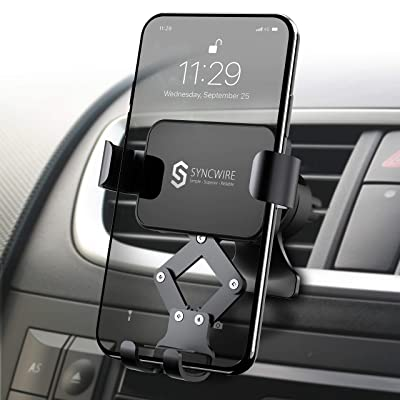 Syncwire Car Phone Mount, Air Vent Cell Phone Holder, Gravity Phone Car Mount Compatible with iPhone 11 Pro Max XS Max XR X 8 7 6s 6+ 6 Samsung Galaxy S10 S9 S8 and Smartphone Under 6.8 Inch: Electronics