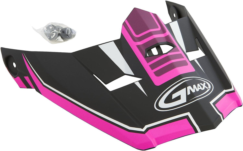 GMAX Unisex-Adult G046836 Visor Mx46 Uncletc14 Black//Pink xs-s X-Small-Small