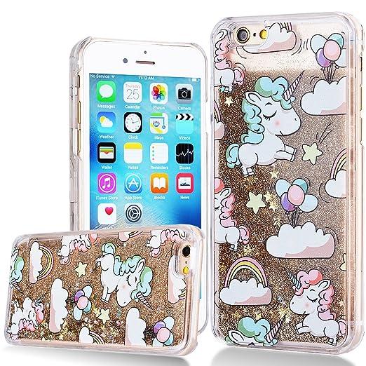 43 opinioni per Custodia iPhone 6 Plus , iPhone 6S Plus Cover Trasparente 3D Floating Quicksand