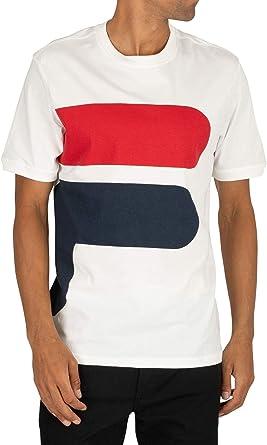 Fila de los Hombres Camiseta Alvan, Blanco: Amazon.es: Ropa y accesorios