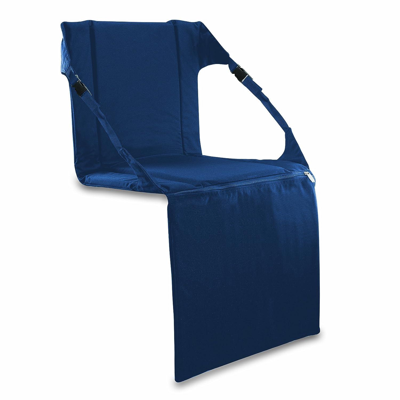Amazon Picnic Time Portable Stadium Seat Navy Sports