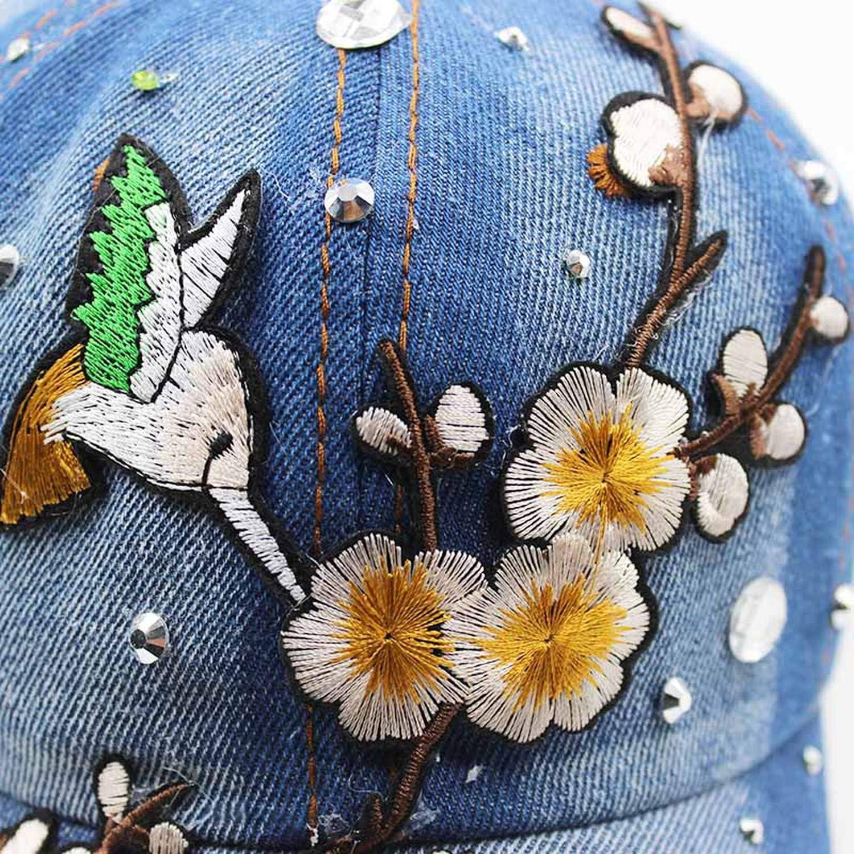 Adult Women Baseball Cap Caps Fashion Floral Bird Summer Girl Casual Bonnet Hats Beauty Hat