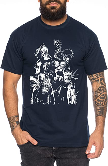 Heroes One Manga Camiseta de Hombre Anime Piece: Amazon.es: Ropa y accesorios